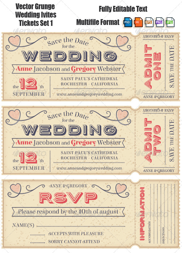 GraphicRiver Weddiing Invites 7140375