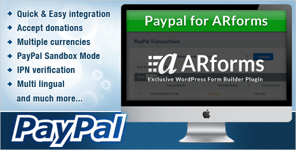 CodeCanyon Paypal for Arforms 7140646