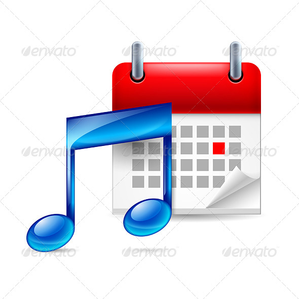 GraphicRiver Music Note and Calendar 7140804