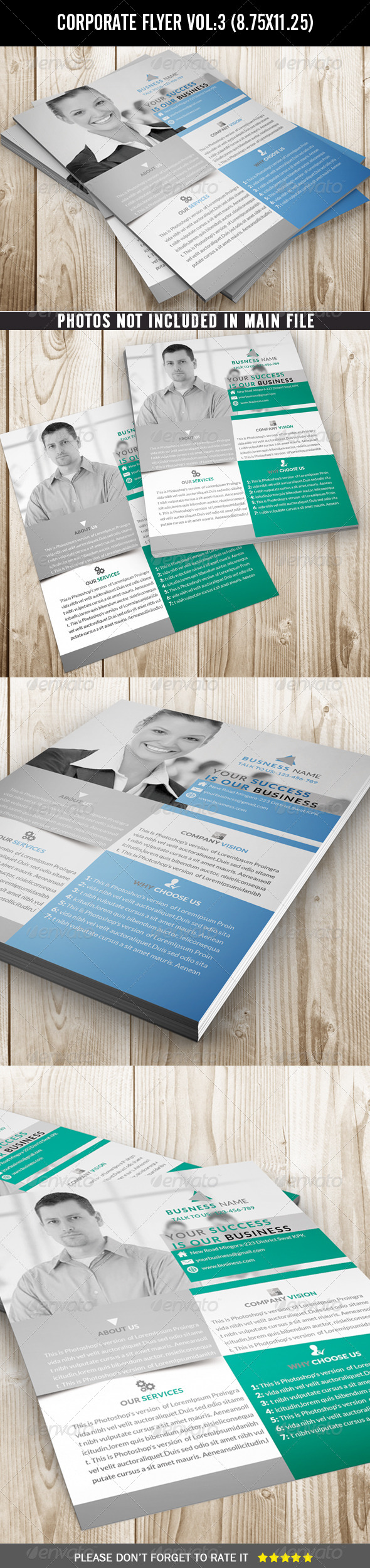 GraphicRiver Corporate Flyer Clean and Simple 7140827