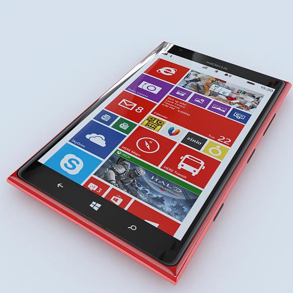 3DOcean Nokia Lumia 1520 Red 7140922