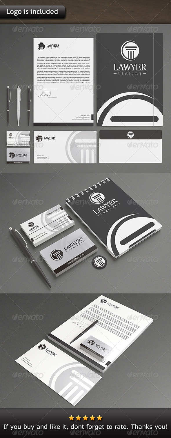 GraphicRiver Law Firm Stationery 7140933
