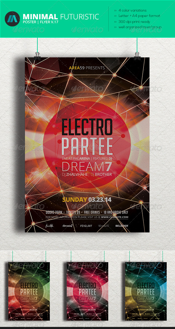 GraphicRiver Minimal Futuristic Poster Flyer V.17 7140948