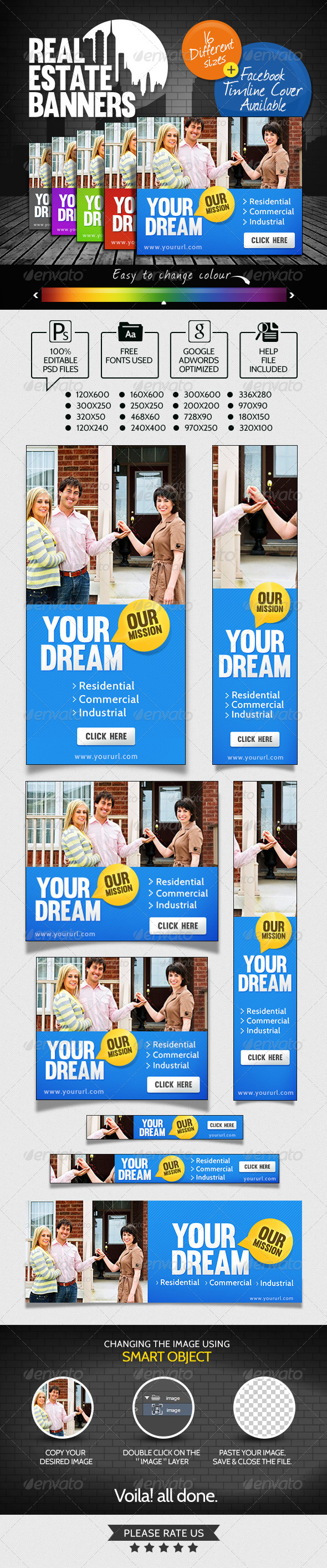 GraphicRiver Real Estate Banner Set 7141091