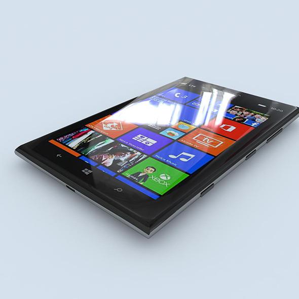 3DOcean Nokia Lumia 1520 black 7141193