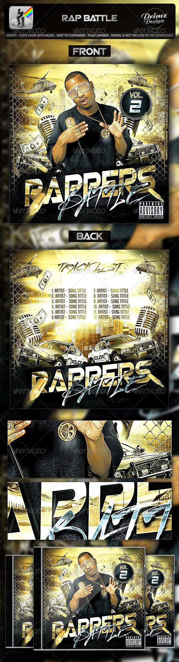 GraphicRiver Rap Battle Mixtape Template 7124905