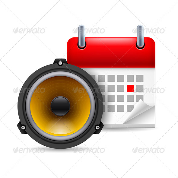 GraphicRiver Sound Speaker and Calendar 7141360