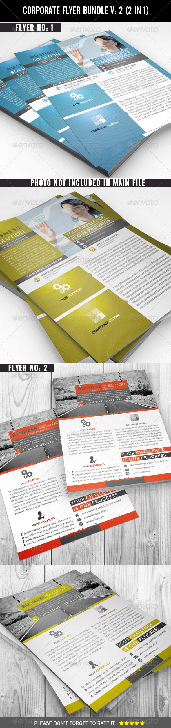 GraphicRiver Corporate Flyer Bundle 7141404