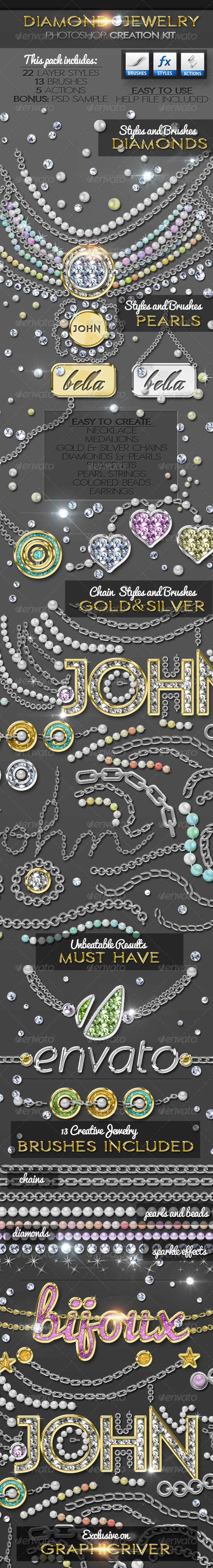 GraphicRiver Diamond Gold Silver and Pearls Jewelry Creator 7141547
