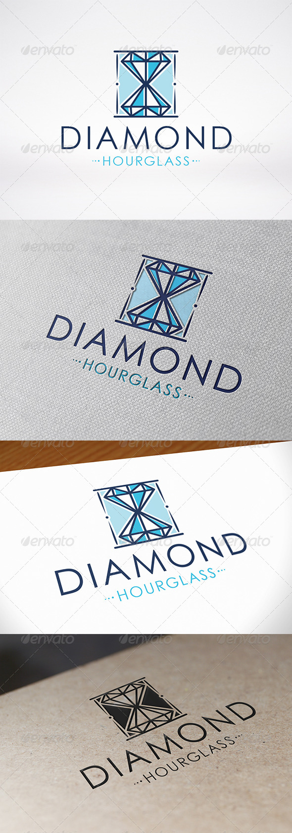 GraphicRiver Diamond Hourglass Logo 7141565