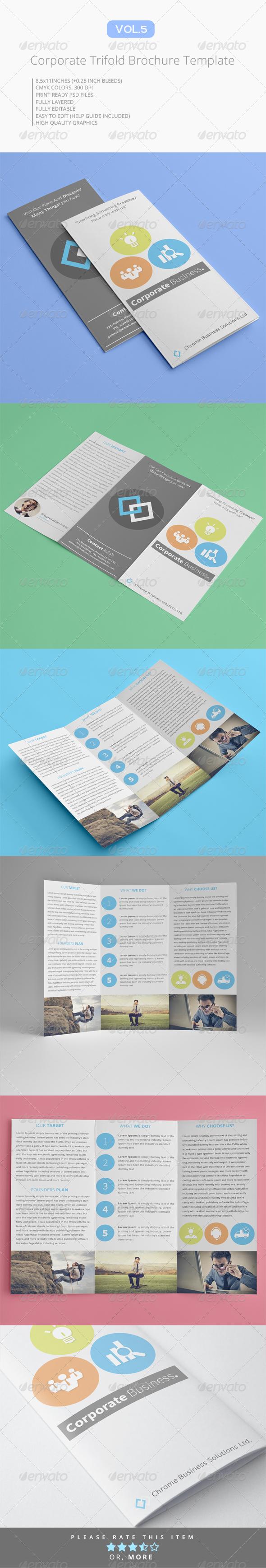GraphicRiver Corproate Trifold Brochure V.5 7127667