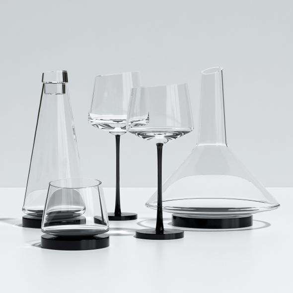 3DOcean Somelier Glassware 7138668