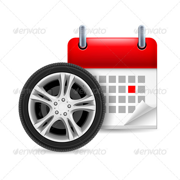GraphicRiver Car Tire and Calendar 7141593
