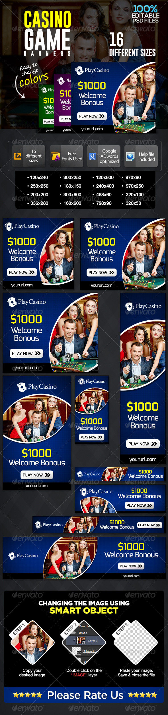 GraphicRiver Casino Banners 7141655