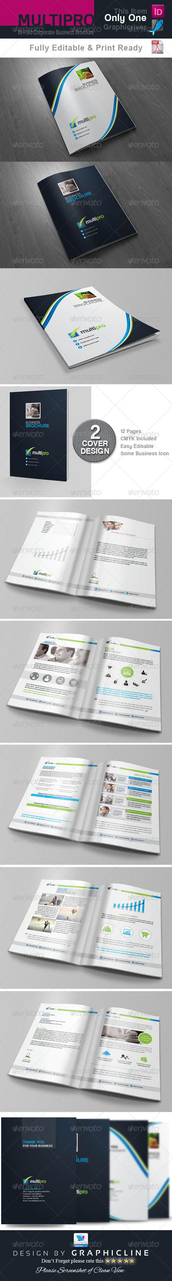 GraphicRiver Multi Pro Bi Fold Corporate Business Brochure 7141659