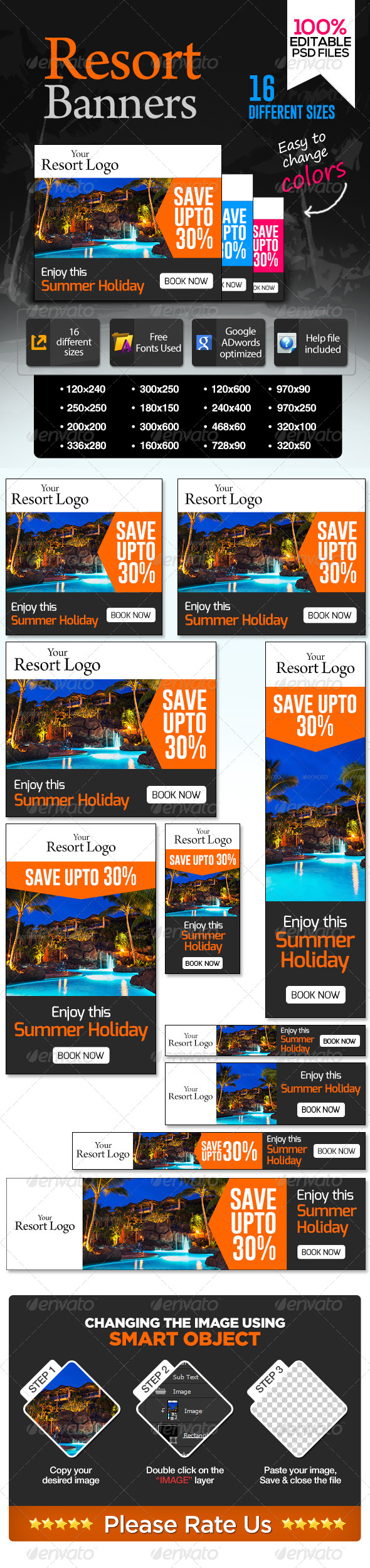 GraphicRiver Banners for Vacation Resorts 7141702