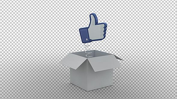 Facebook Like Symbol On A Spring