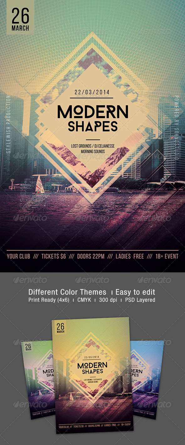 Modern Shapes Flyer - Clubs & Parties Events