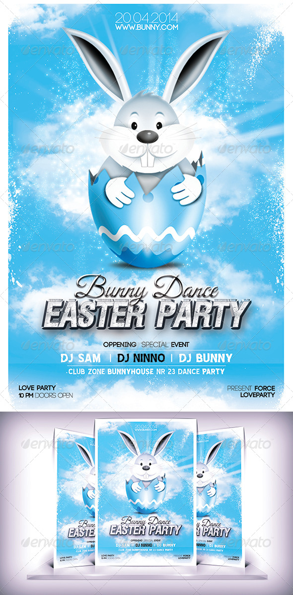 GraphicRiver Easter Party Day Flyer 7142274