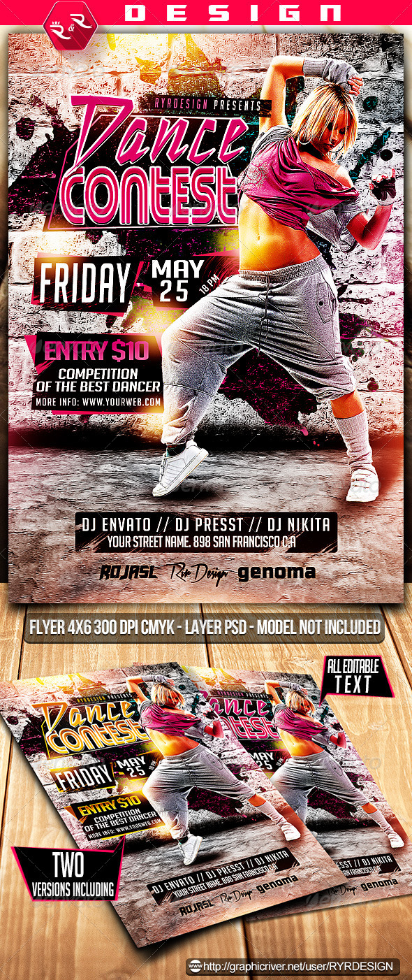 GraphicRiver Dance Contest Flyer Template 7142387