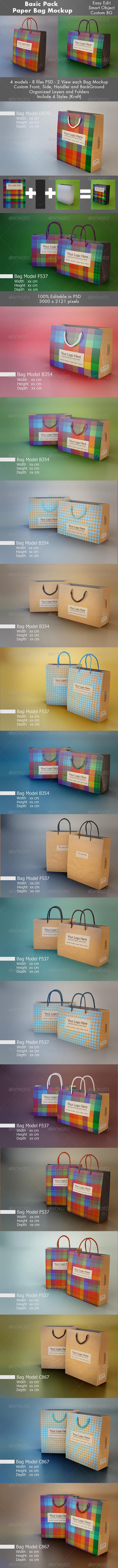 GraphicRiver Basic Pack Bag Mockup 7075207