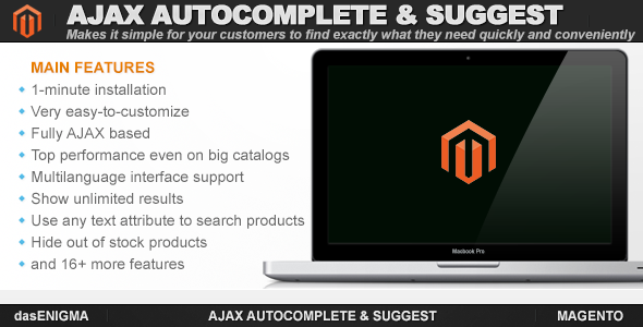 CodeCanyon Ajax Autocomplete & Suggest for Magento 7142657