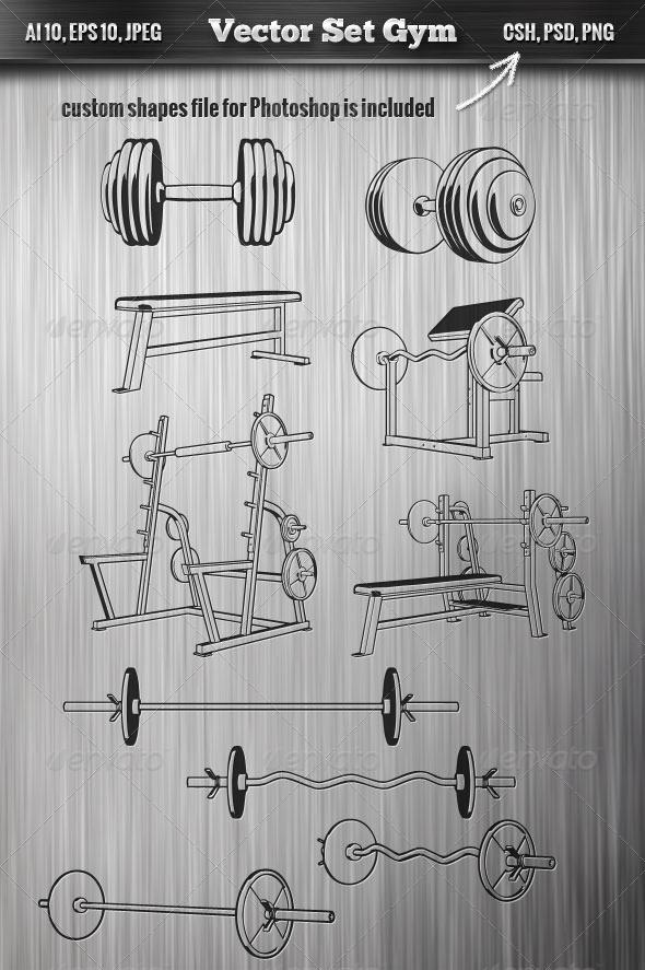 GraphicRiver Gym Set 7142869