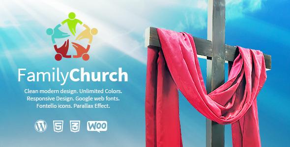 ThemeForest Family Church Clean Responsive Religion Theme 7142918