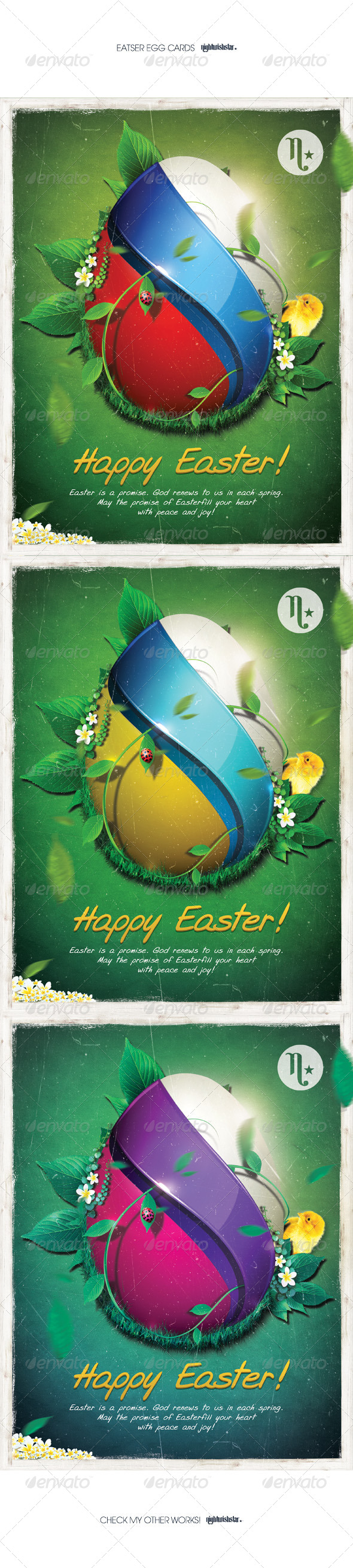 GraphicRiver Easter Egg Cards Posters 7142927