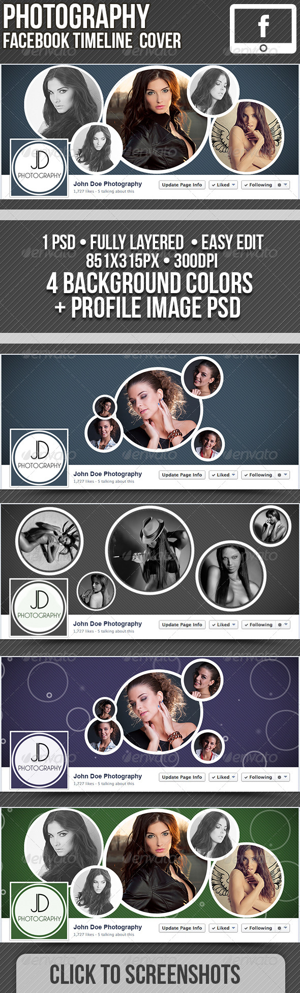 Facebook Timeline Plus Profile Image PSD - Facebook Timeline Covers Social Media