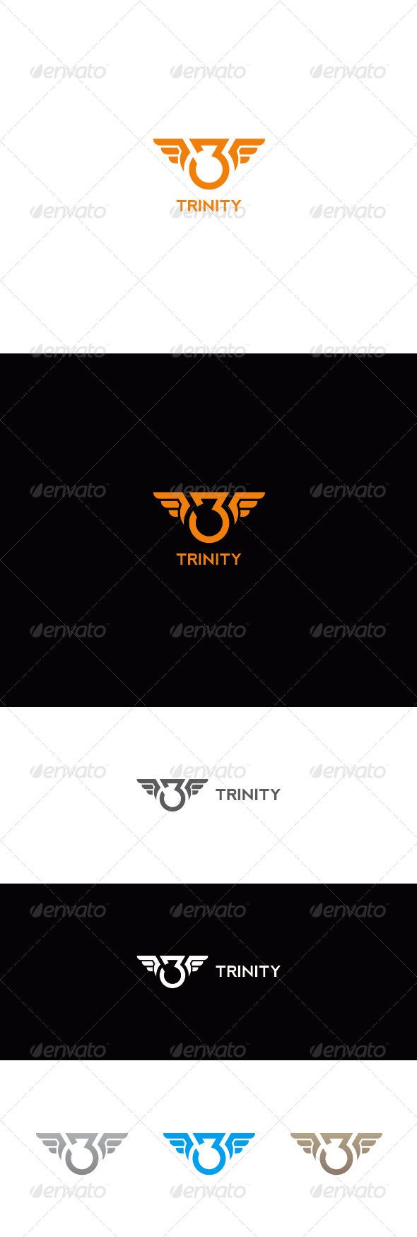 GraphicRiver Number Three Logo Trinity 7143272