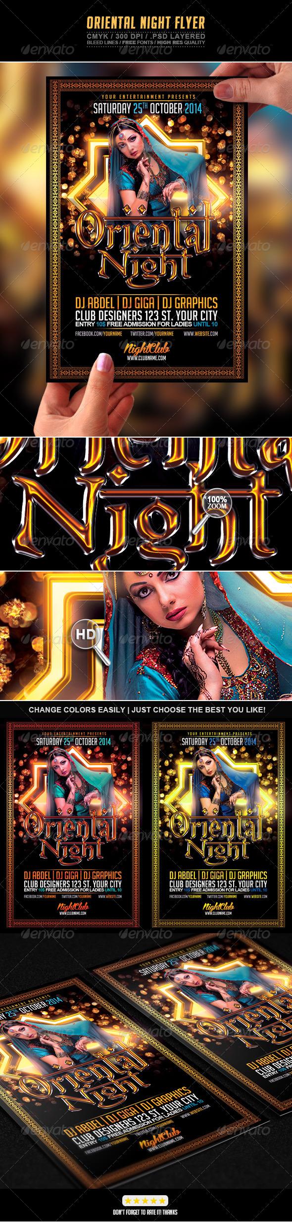 GraphicRiver Oriental Night Flyer 7143273