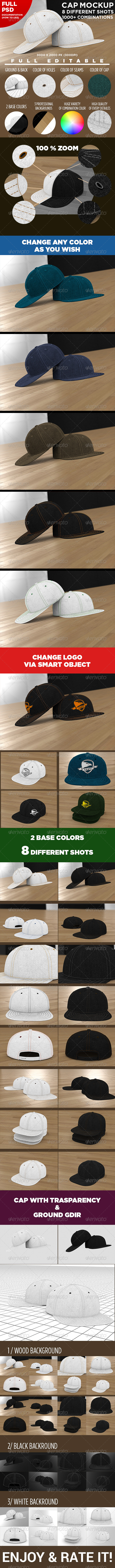 GraphicRiver Professional Baseball Cap Mock-up 7143332