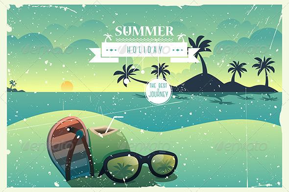 GraphicRiver Vintage Summer Poster 7143499