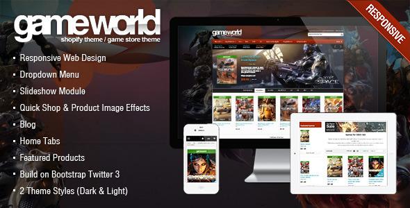 Game Store Shopify Theme - GameWorld - Shopify eCommerce