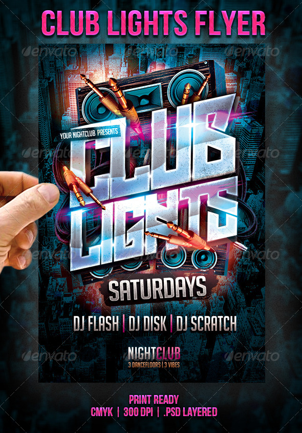 GraphicRiver Club Lights Flyer 7143518
