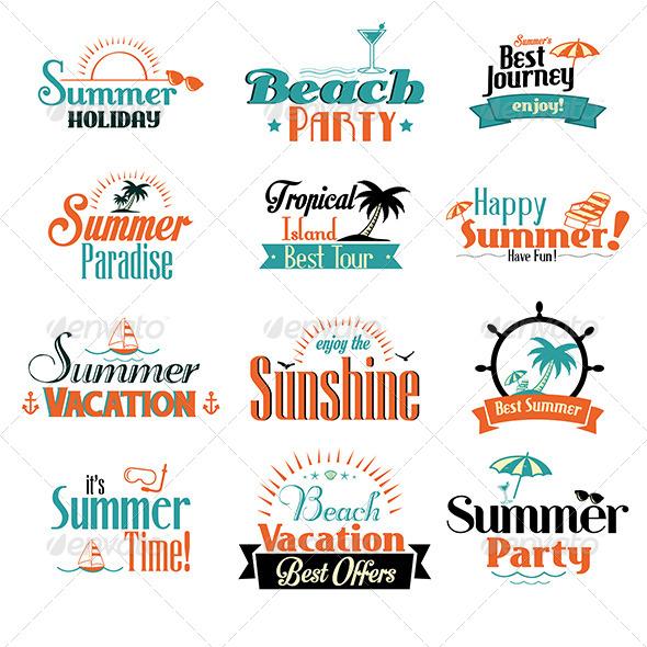 GraphicRiver Retro Summer Badges 7143521