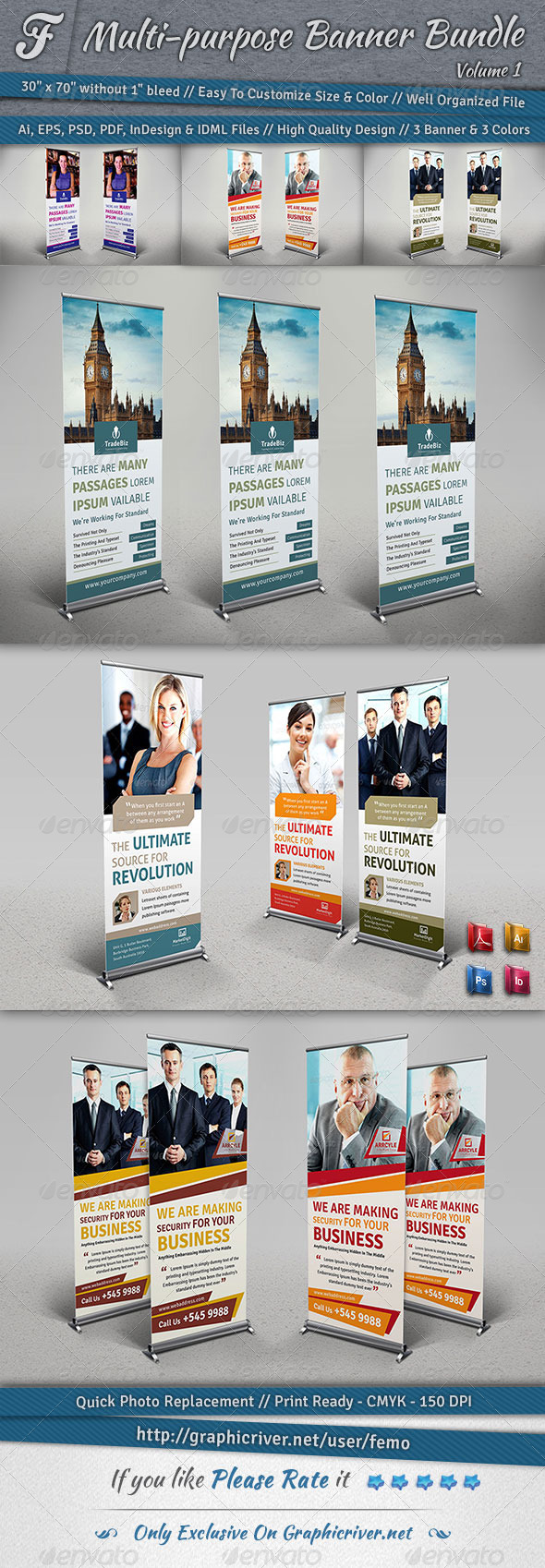 GraphicRiver Multi-purpose Banner Bundle Volume 1 7143888