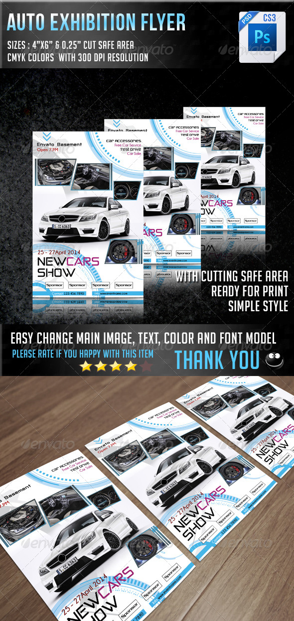 GraphicRiver Auto Exhibition Flyer V8 7144100
