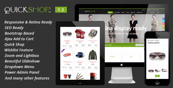 10 best responsive shopify themes 2015 artfulclub quickshop responsive shopify theme shopify ecommerce pronofoot35fo Images