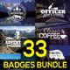 33 Retro & Vintage Badges Bundle - GraphicRiver Item for Sale