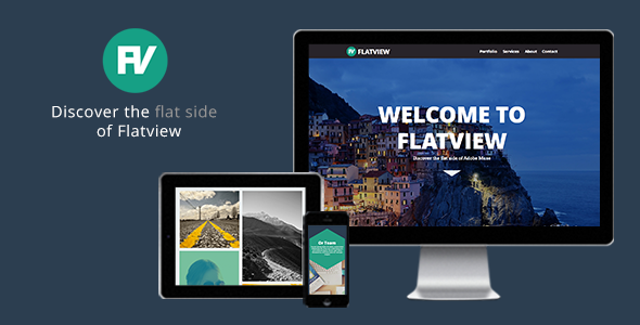 ThemeForest Flatview One Page Muse Theme 5492578