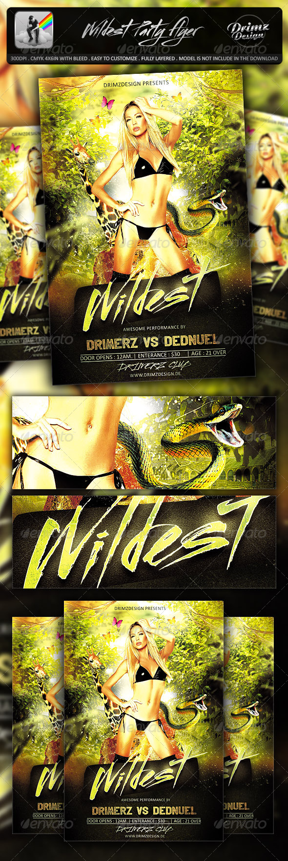 GraphicRiver Wildest Party Flyer 7146075