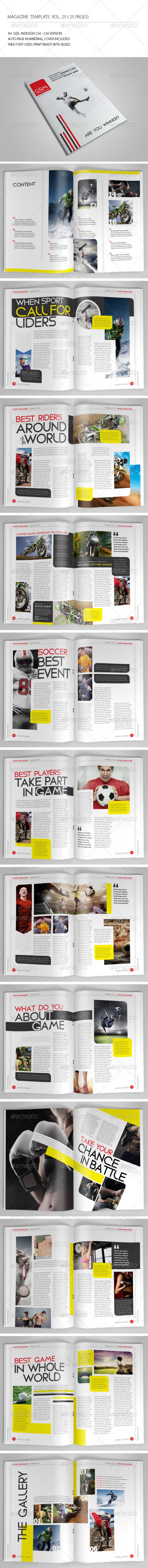 GraphicRiver 25 Pages Sport Magazine Vol25 7137929