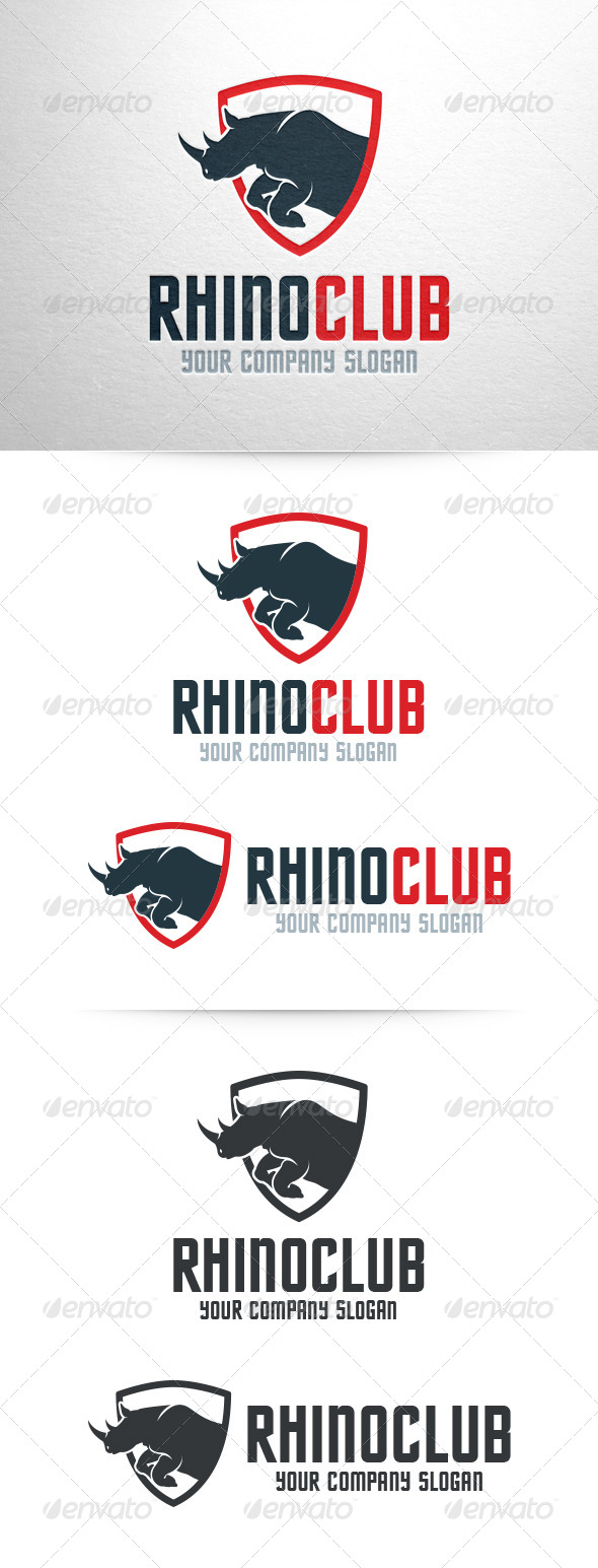 GraphicRiver Rhino Logo Template 7146654