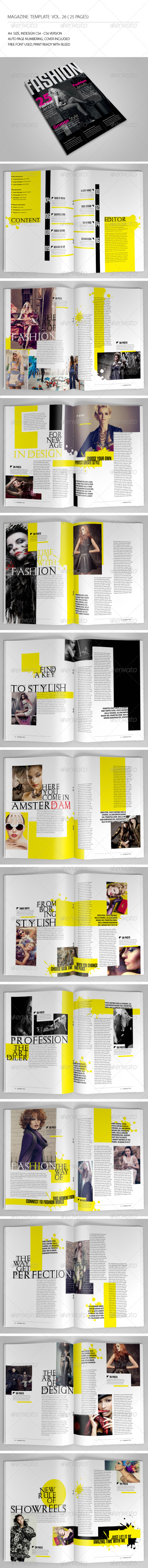 GraphicRiver 25 Pages Fashion Magazine Vol26 7146655