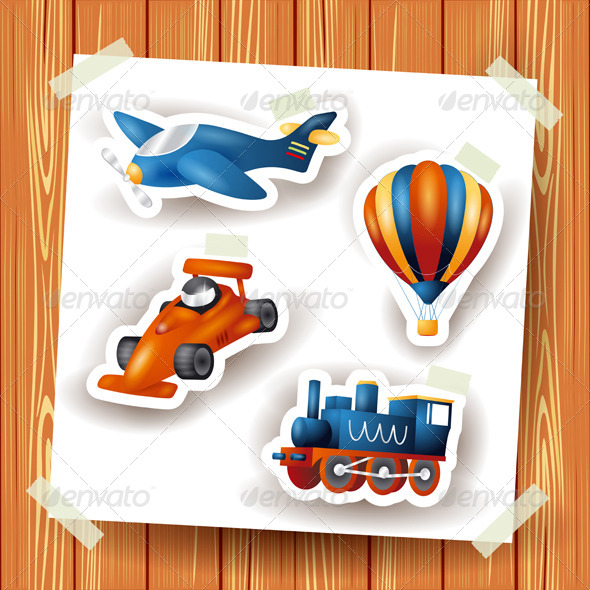 GraphicRiver Series of Icons Motor Transport 7147026