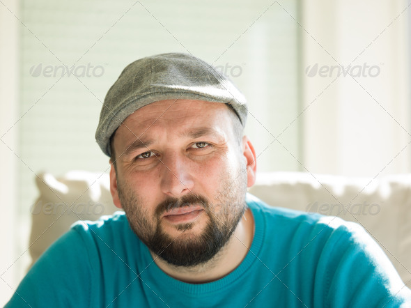 happy young  man  relaxing at home - Stock Photo - Images