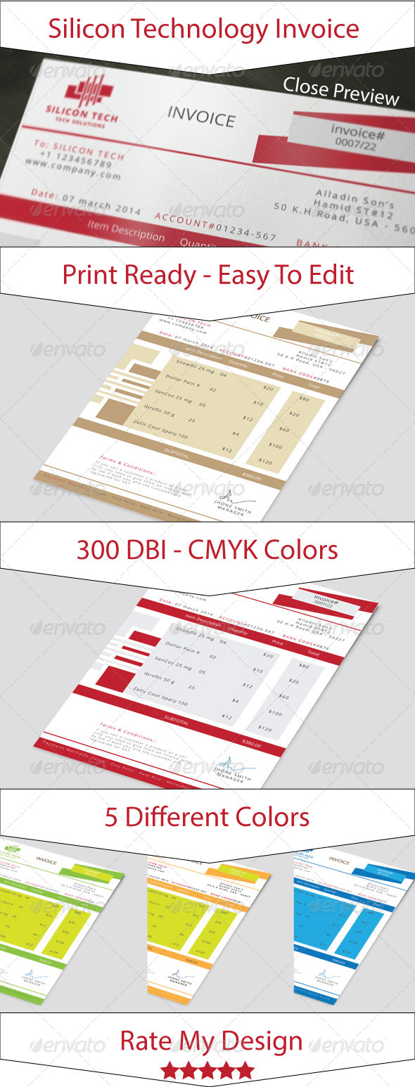GraphicRiver Silicon Technology Business Invoice 7147489