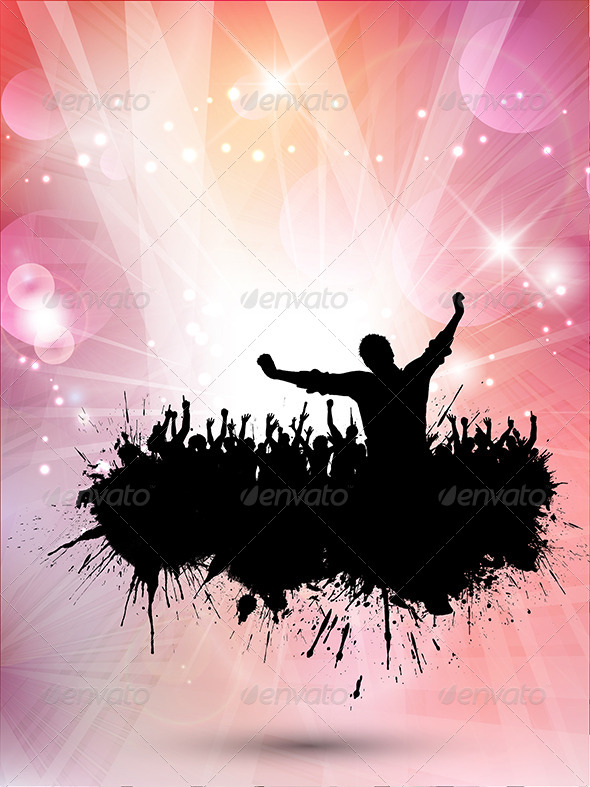 GraphicRiver Grunge Party Background 7147607